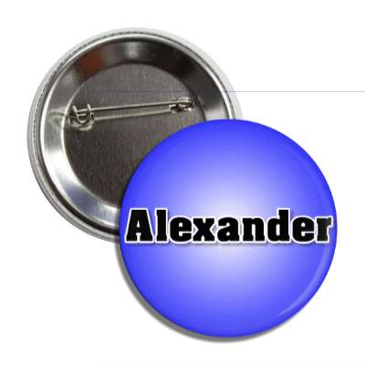 alexander male name blue button