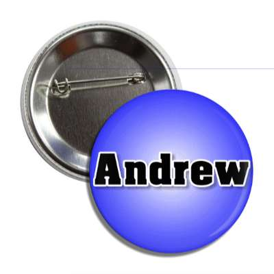 andrew male name blue button