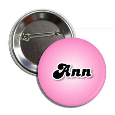 ann female name pink button
