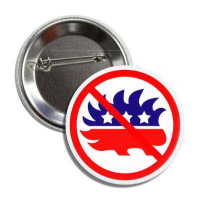 anti libertarian party porcupine red slash button
