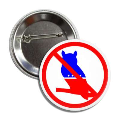 anti modern whig party red slash button