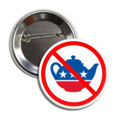 anti tea party symbol red slash button