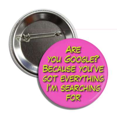 are you google because youve got everything im searching for button