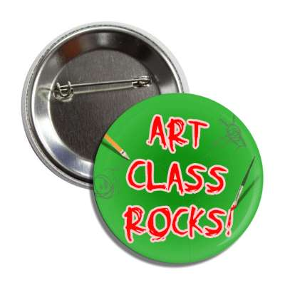 art class rocks pencil paint brush button