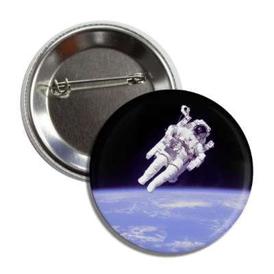 astronaut above earth button