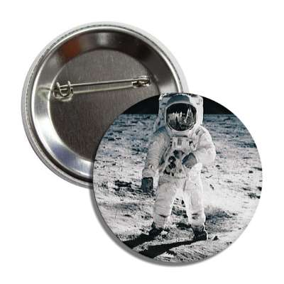 astronaut on moon button