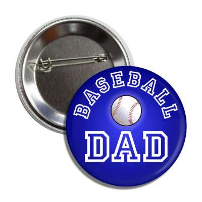 baseball dad blue button