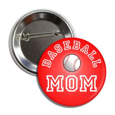 baseball mom red button