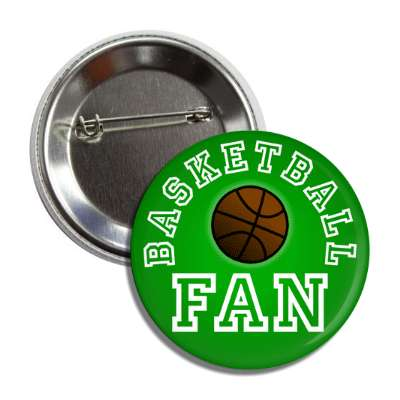 basketball fan green button