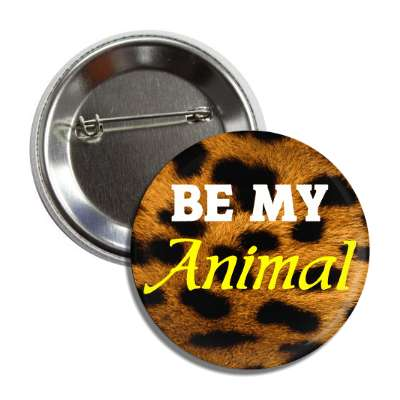 be my animal leopard print button