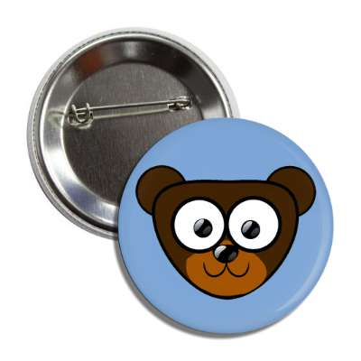 bear cute cartoon button