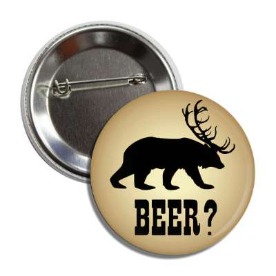 beer deer bear button