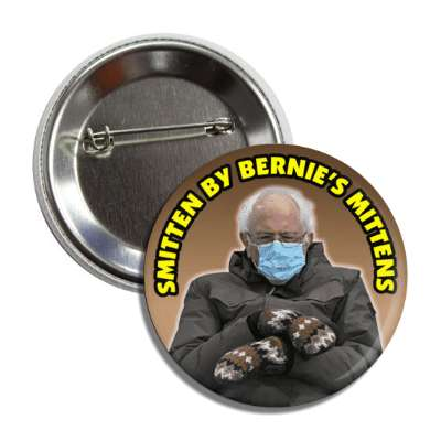 bernie sanders mask inauguration smitten by bernies mittens button
