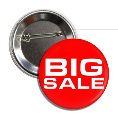 big sale pricetag button