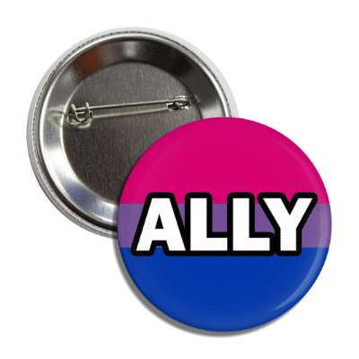 bisexual ally bi pride flag button