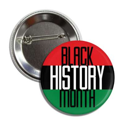 black history month african colors button