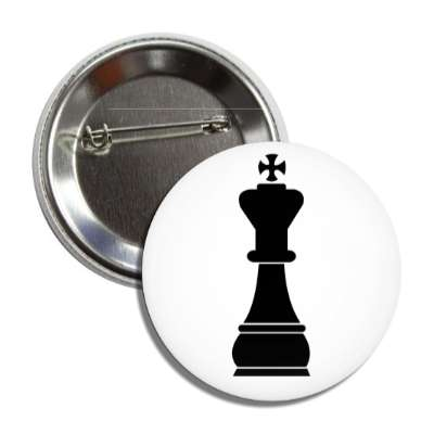 black king chess piece button