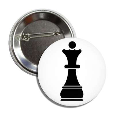 black queen chess piece button