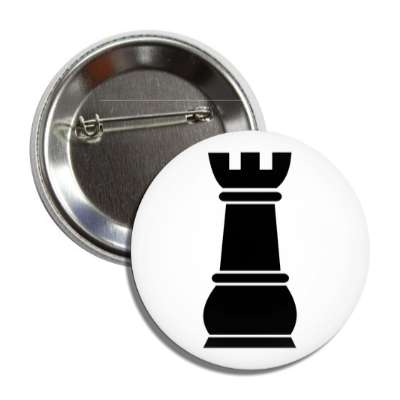 black rook chess piece button