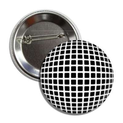 black squares white grid 3d button