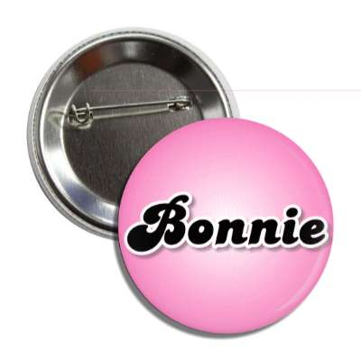 bonnie female name pink button