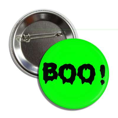 boo green creepy button