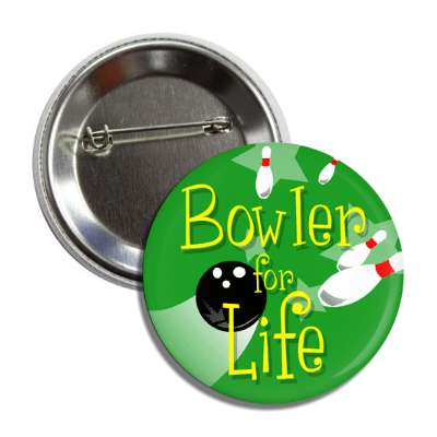 bowler for life bowling pins ball green button