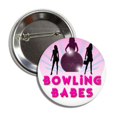 bowling babes silhouette button