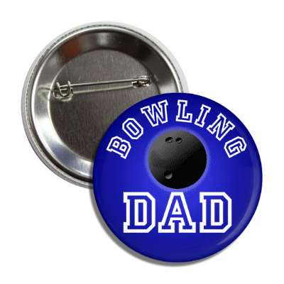 bowling dad blue button