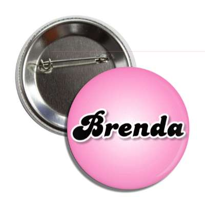 brenda female name pink button
