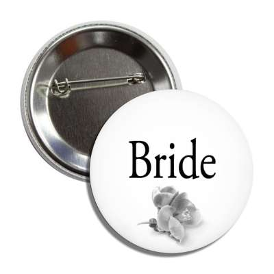 bride one flower grey classic button