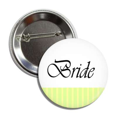 bride yellow white lines button