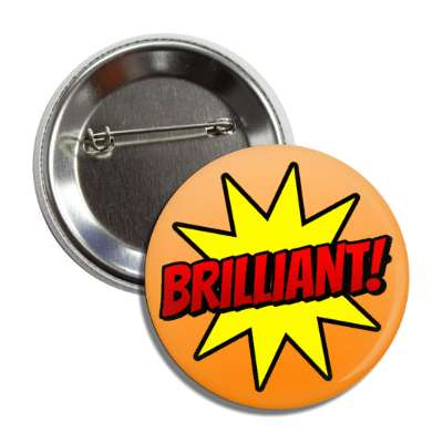 brilliant student motivation burst orange button