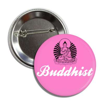 buddhist pink button