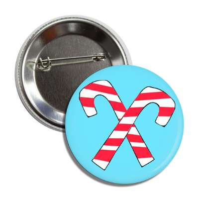 candy canes blue crossed button