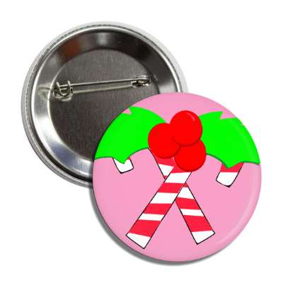candy canes christmas berries button