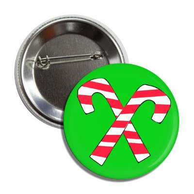 candy canes green crossed button