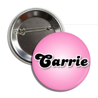 carrie female name pink button