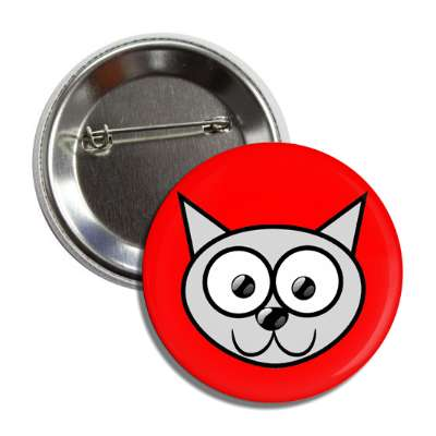 cat cute cartoon button