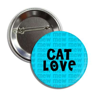 cat love blue mew button