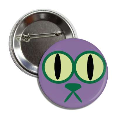 cat smiley cartoon purple button