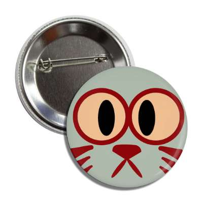 cat smiley grey cute button
