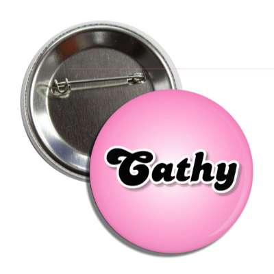 cathy female name pink button