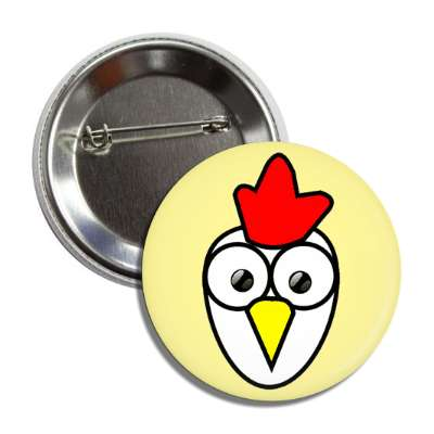chicken cute cartoon button