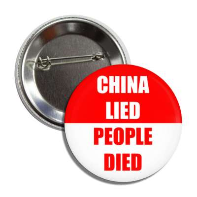 china lied people died red button