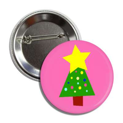 christmas tree hot pink button