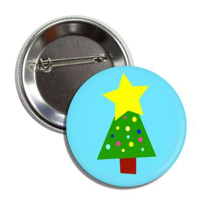 christmas tree light blue button