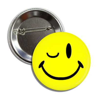 classic smiley wink button