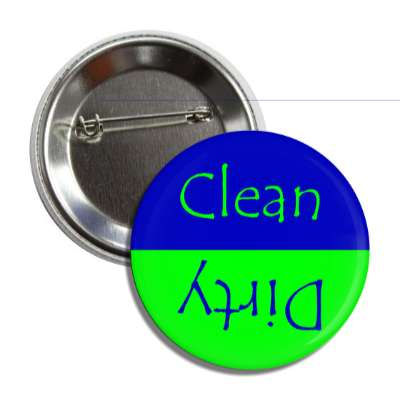 clean dirty dishwasher green blue button