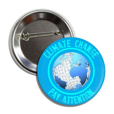 climate change pay attention wireframe earth button